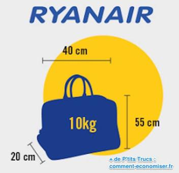 dimension bagage à main ryanair