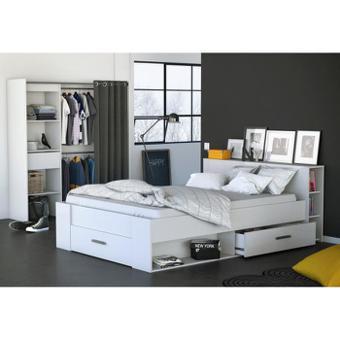 lit double avec rangement
