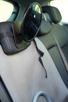 miroir voiture bebe dos route