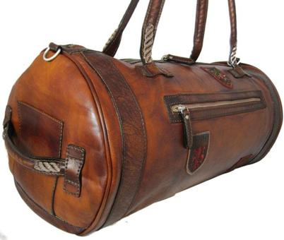 sac voyage cuir homme vintage