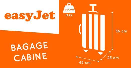 dimension valise cabine avion easyjet