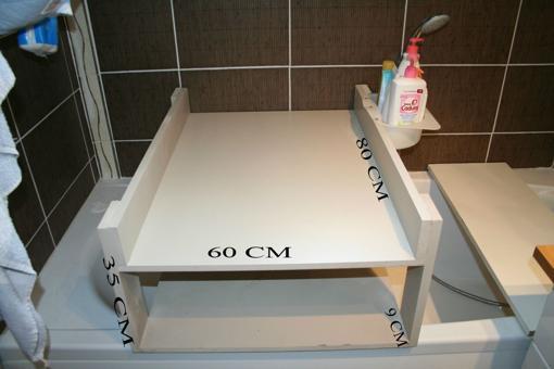 table langer sur baignoire