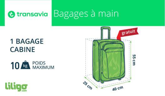 transavia bagage a main