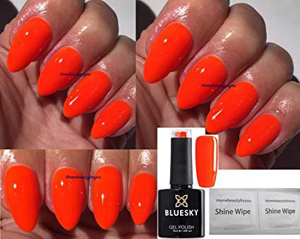 vernis orange fluo